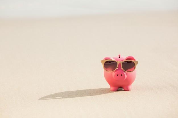 Κουμπαράς γουρούνι σε άμμο